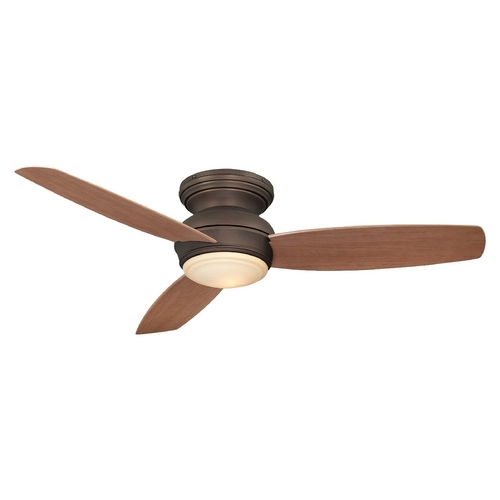 Minka Aire 52-Inch Outdoor Hugger Ceiling Fan with Light Kit F594-ORB