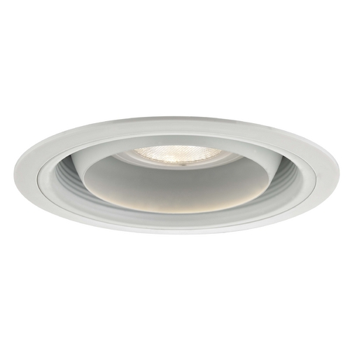 Recesso Lighting by Dolan Designs Adjustable Regressed Eyeball Trim for 6-Inch Recessed Cans T619W-WH