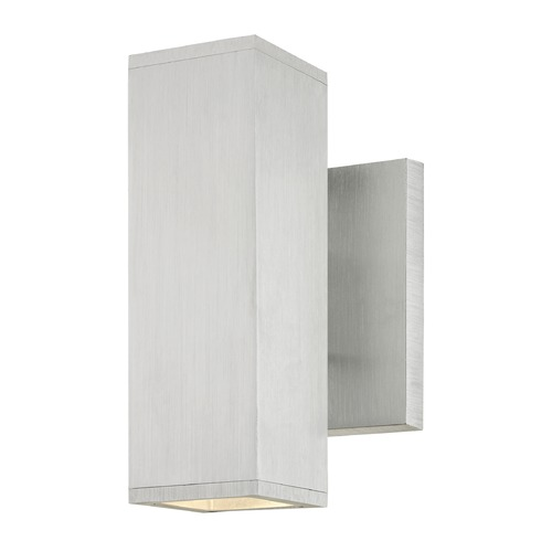 Design Classics Lighting LED Square Cylinder Outdoor Wall Light Up / Down Aluminum 3000K 1774-BA S9383 LED 3000K