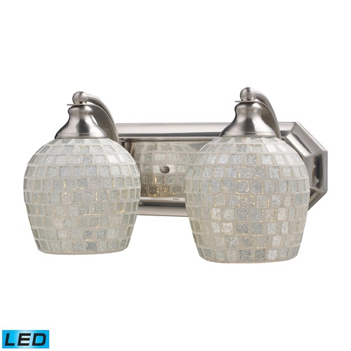 Elk Lighting Elk Lighting Bath and Spa Satin Nickel LED Bathroom Light 570-2N-SLV-LED