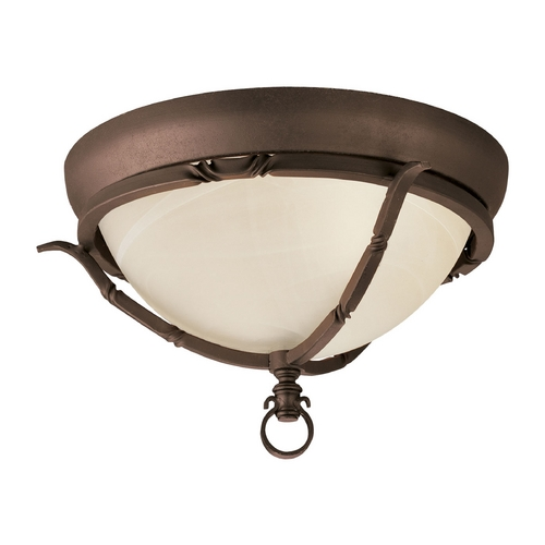 Progress Lighting Progress Flushmount Light in Roasted Java Finish P3837-102