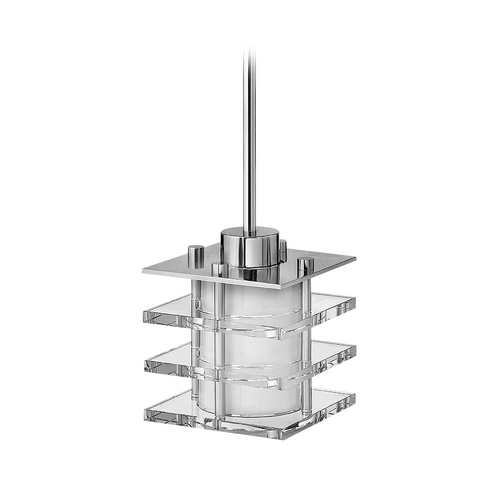 Frederick Ramond Modern Mini-Pendant Light with White Glass FR31557PCM