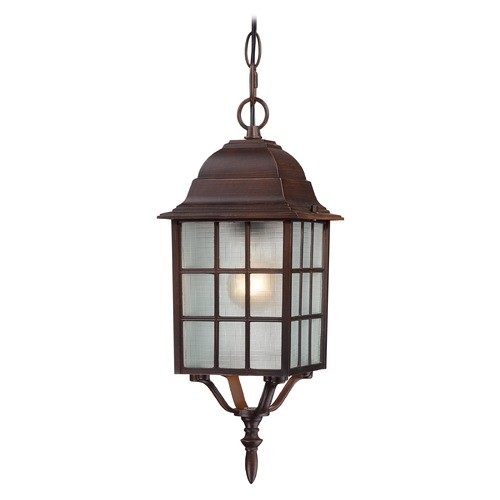 Nuvo Lighting Outdoor Hanging Light with White Glass in Rustic Bronze Finish 60/4912