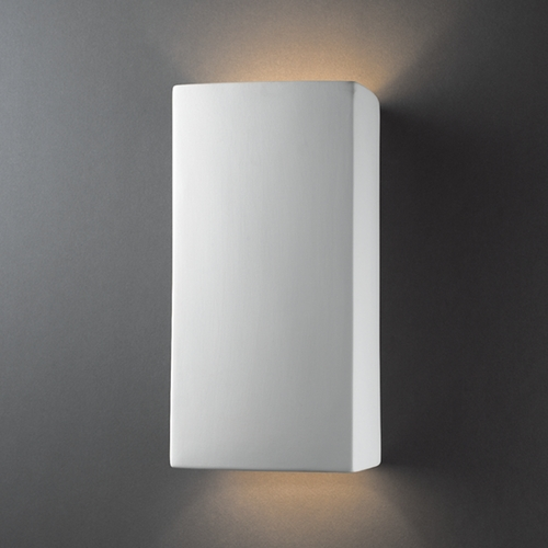 Justice Design Group Sconce Wall Light in Bisque Finish CER-5955-BIS
