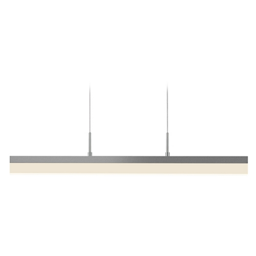 Sonneman Lighting Sonneman Lighting Stiletto Satin White LED Pendant Light with Rectangle Shade 2345.03