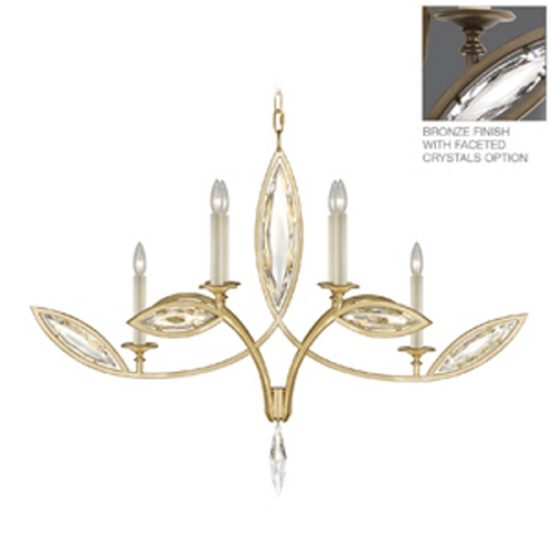 Fine Art Lamps Fine Art Lamps Marquise Antique Hand Rubbed Bronze Crystal Chandelier 844040-32ST
