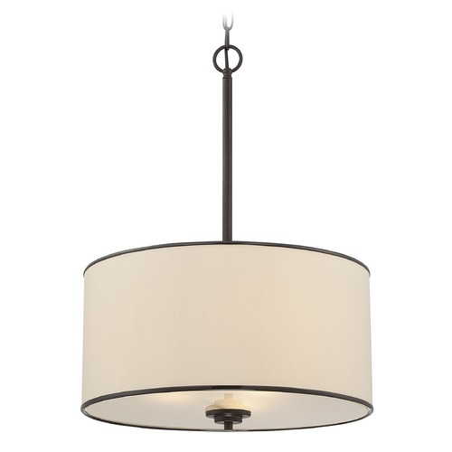 Savoy House Savoy House English Bronze Pendant Light with Drum Shade 7-1502-3-13