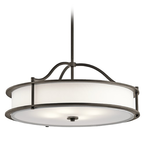 Kichler Lighting Kichler Lighting Emory Pendant Light with Drum Shade 43706OZ