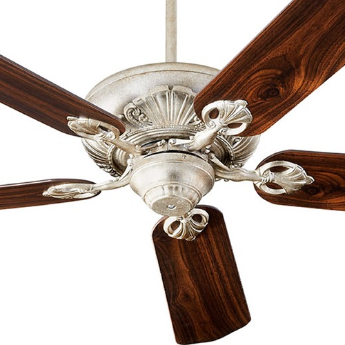 Quorum Lighting Quorum Lighting Chateaux Aged Silver Leaf Ceiling Fan Without Light 78525-60
