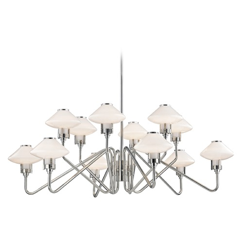 Hudson Valley Lighting Hudson Valley Lighting Knowles Polished Nickel LED Chandelier 2012-PN