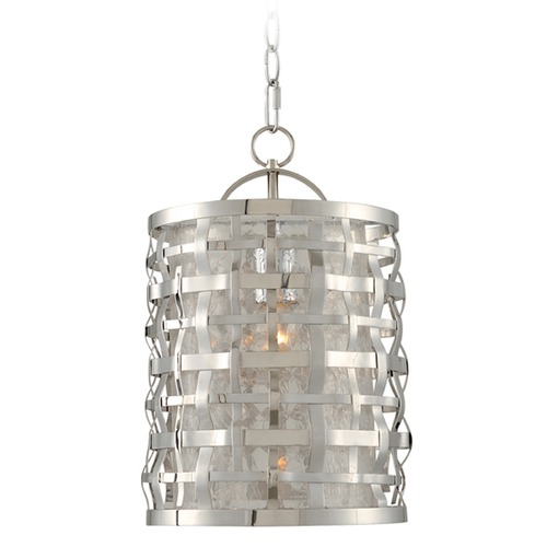 Kalco Lighting Kalco Lighting Bridgeport Brushed Stainless Steel Mini-Pendant Light with Cylindrical Shade 308710SL