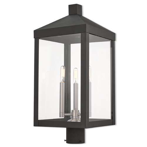 Livex Lighting Livex Lighting Nyack Black Post Light 20586-04
