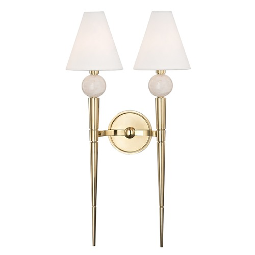 Hudson Valley Lighting Hudson Valley Lighting Vanessa Aged Brass Sconce 4982-AGB