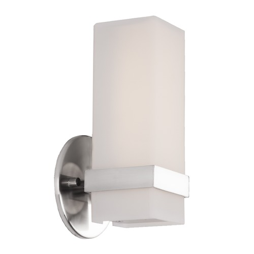 Kuzco Lighting Modern Chrome LED Sconce with White Opal Shade 3000K 452LM WS8809-CH