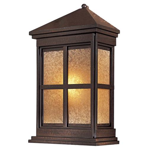 Minka Lavery Outdoor Wall Light with Beige / Cream Glass in Rust Finish 8560-51-PL