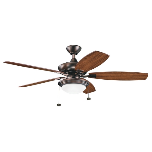 Kichler Lighting Kichler Ceiling Fan with Light Kit in Oil Brushed Bronze Finish 300016OBB