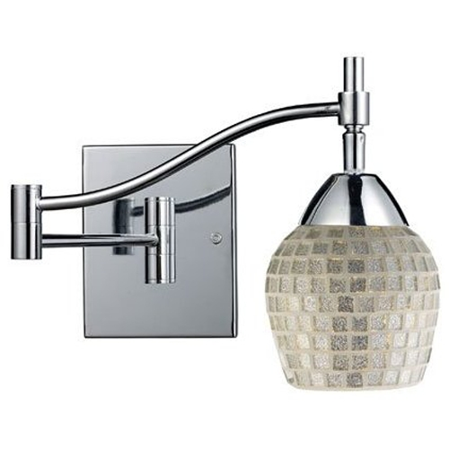 Elk Lighting Transitional Swing Arm Lamp Chrome Celina by Elk Lighting 10151/1PC-SLV