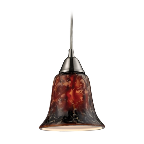 Elk Lighting Modern Mini-Pendant Light with Multi-Color Glass 31130/1FDG