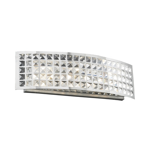 PLC Lighting Modern Bathroom Light with Clear Glass in Polished Chrome Finish 18182 PC