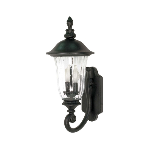 Nuvo Lighting Outdoor Wall Light with Clear Glass in Textured Black Finish 60/976