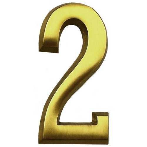 Satin Brass Four Inch House Number Gm Cb2