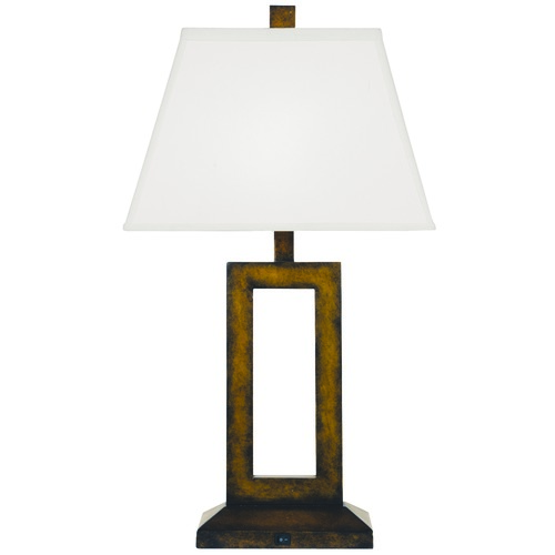 Design Classics Lighting Contemporary Table Lamp with Rectangular Cutout and Shade 6570-604 / SH7422  KIT
