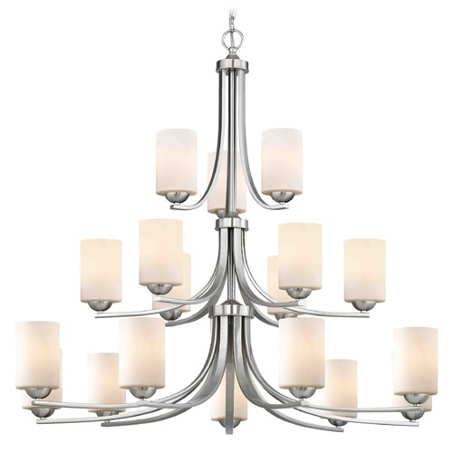 Design Classics Lighting Satin Nickel Chandelier 5863-09 GL1024C