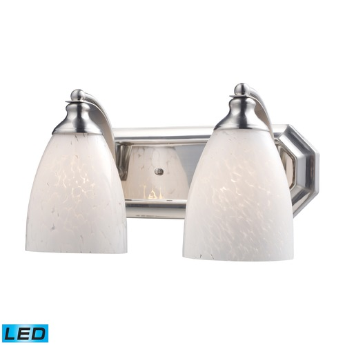 Elk Lighting Elk Lighting Bath and Spa Satin Nickel LED Bathroom Light 570-2N-SW-LED