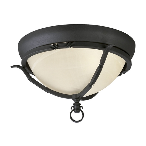 Progress Lighting Progress Flushmount Light in Forged Black Finish P3837-80