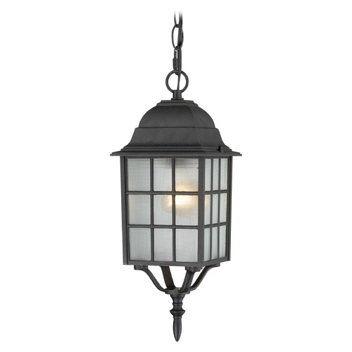 Nuvo Lighting Outdoor Hanging Light with White Glass in Textured Black Finish 60/4913