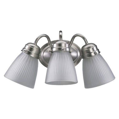 Quorum Lighting Quorum Lighting Satin Nickel Bathroom Light 5403-3-165