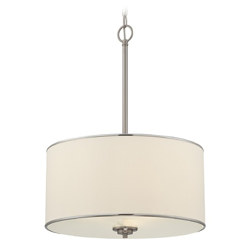 Savoy House Savoy House Satin Nickel Pendant Light with Drum Shade 7-1502-3-SN