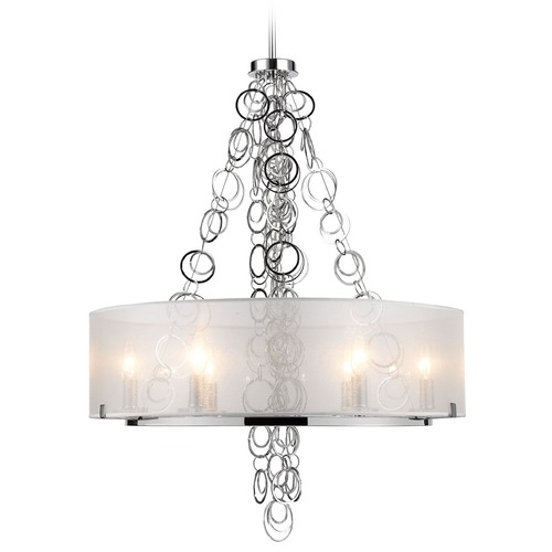 Golden Lighting Golden Lighting Danica Chrome Chandelier 5050-6 CH