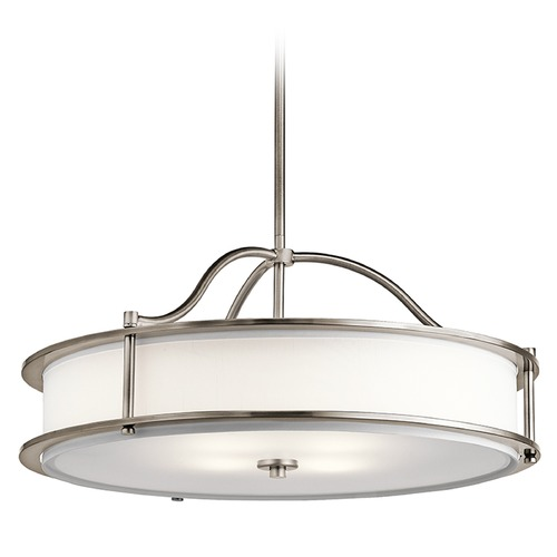 Kichler Lighting Kichler Lighting Emory Pendant Light with Drum Shade 43706CLP