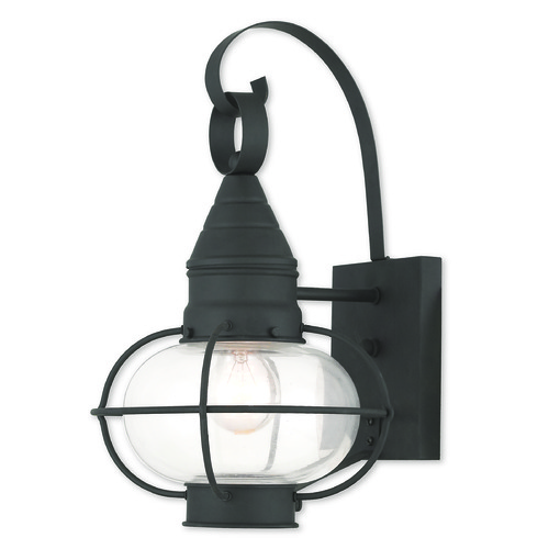 Livex Lighting Livex Lighting Newburyport Black Outdoor Wall Light 26901-04