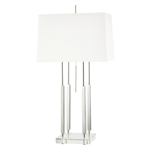 Hudson Valley Lighting Hudson Valley Lighting Rhinebeck Polished Nickel Table Lamp with Rectangle Shade L1057-PN