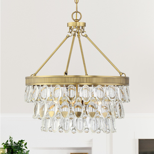 Savoy House Savoy House Windham 4-Light Warm Brass Pendant 7-8700-4-322