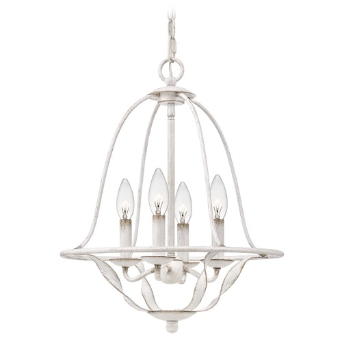 Quoizel Lighting Quoizel Lighting Bradbury Antique White Mini-Chandelier BDB5016AWH