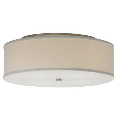 Tech Lighting Modern Flushmount Light with White Shades in Satin Nickel Finish 700TDMULFMLWS-CF