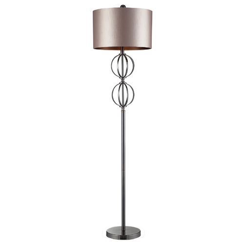 Elk Lighting Modern Floor Lamp with Beige / Cream Shade in Coffee Plating Finish D2223