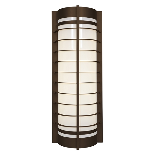 Access Lighting Outdoor Wall Light with White in Bronze Finish 20346MG-BRZ/ACR