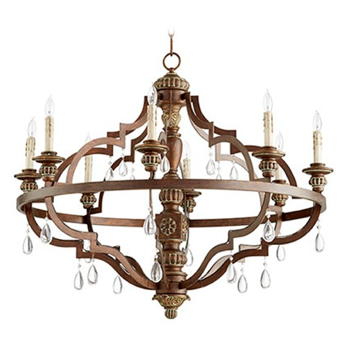 Quorum Lighting Quorum Lighting Vintage Copper Chandelier 645-8-39