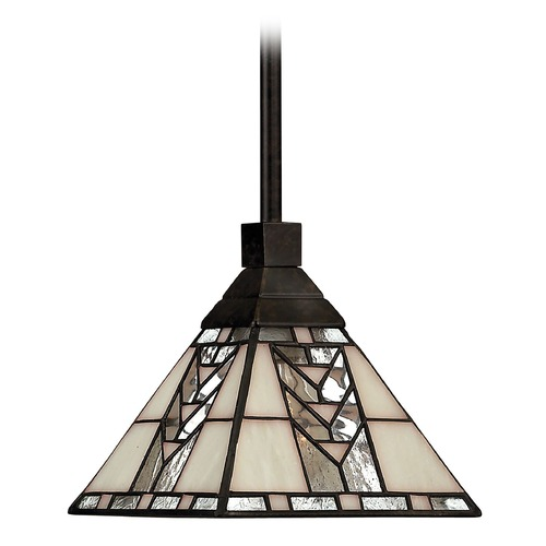 Hinkley Lighting Mini-Pendant Light with Art Glass 4717RB