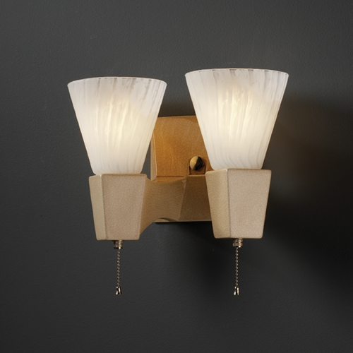 Justice Design Group Sconce Wall Light in Sienna Brown Crackle Finish CER-7012-CKS