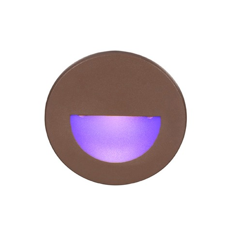 WAC Lighting WAC Lighting Ledme Bronze LED Recessed Step Light with Blue LED WL-LED300-BL-BZ