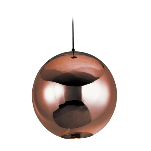 ET2 Lighting Solar Polished Chrome Pendant Light with Globe Shade E20633-151PC