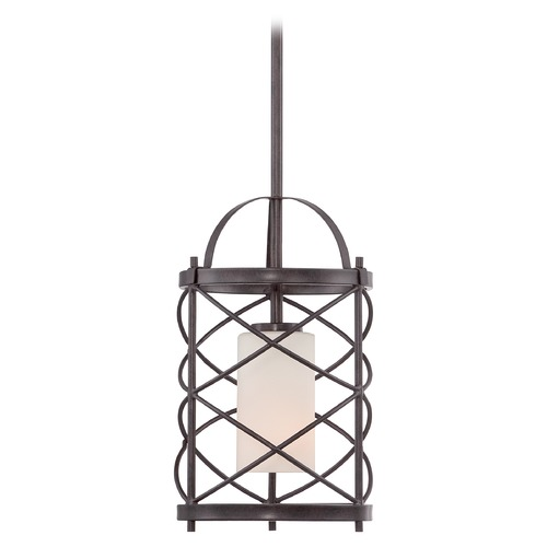 Nuvo Lighting Nuvo Lighting Ginger Old Bronze Mini-Pendant Light with Cylindrical Shade 60/5336