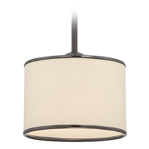 Savoy House Savoy House English Bronze Mini-Pendant Light with Drum Shade 7-1503-1-13