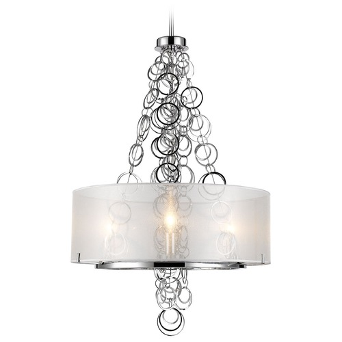 Golden Lighting Golden Lighting Danica Chrome Mini-Chandelier 5050-3 CH