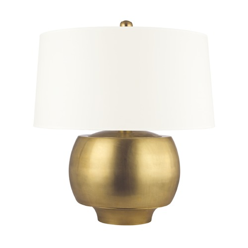 Hudson Valley Lighting Hudson Valley Lighting Holden Aged Brass Table Lamp with Drum Shade L164-AGB-WS